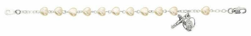 Youth Pearl Heart Rosary Bracelet