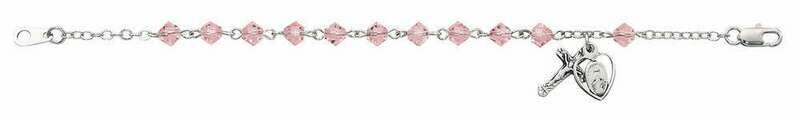 Youth Pink Rosary Bracelet