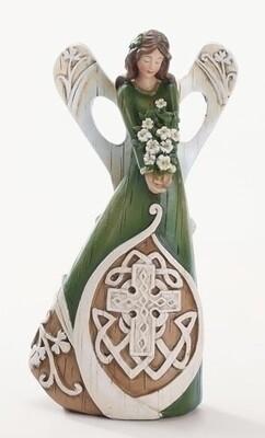 """7"""" Woodcut Irish Angel"""