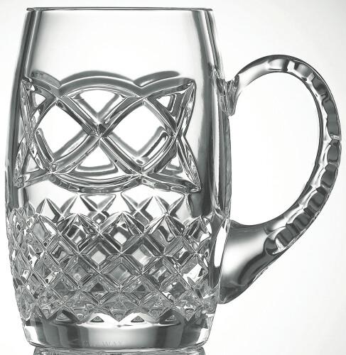 Galway Irish Crystal Celtic Beer Tankard