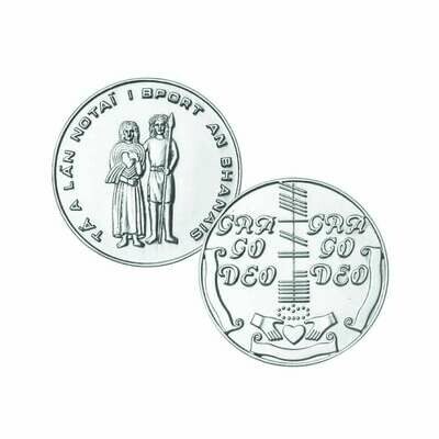 Sterling Silver Irish Wedding Coin