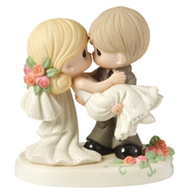 Precious Moments™ On The Threshold Of A Lifetime Of Happiness, Bisque Porcelain Figurine