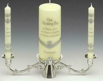 Mullingar Pewter Claddagh Wedding Candleholder