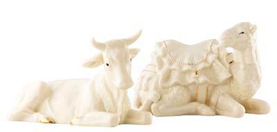 Belleek Manger Set- Ox & Camel
