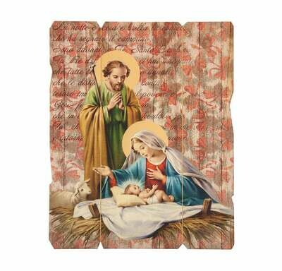 Holy Family Wooden Wall Plaque 2