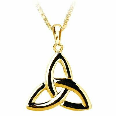 """10kt Gold Trinity Knot Pendant and 10kt Gold 18"""" Chain"""