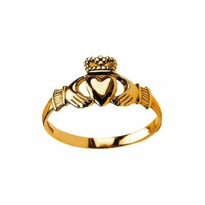 Baby 10kt Gold Claddagh Baby Ring