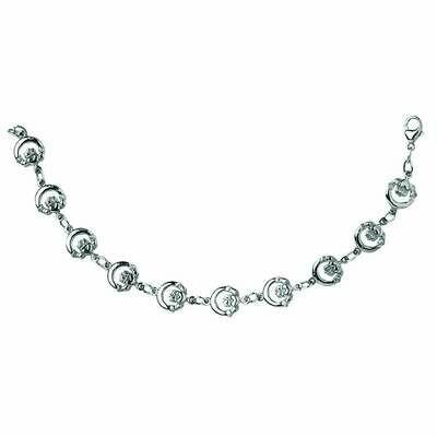 Sterling Silver Claddagh Chain Bracelet