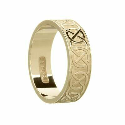 Mens 10kt Gold Celtic Closed Knot Wedding Band