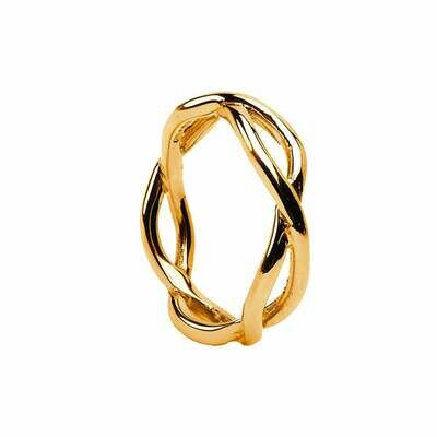 Mens 10kt Gold Infinity Wedding Band