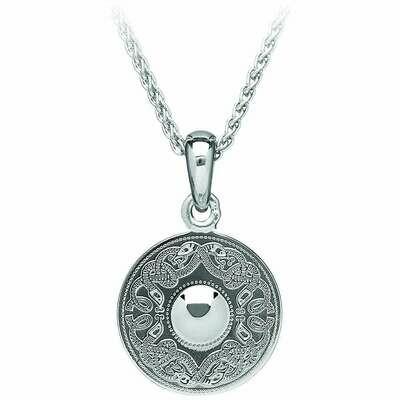 "Sterling Silver Original Celtic Warrior® Pendant- Medium & 18"" Sterling Silver Chain"