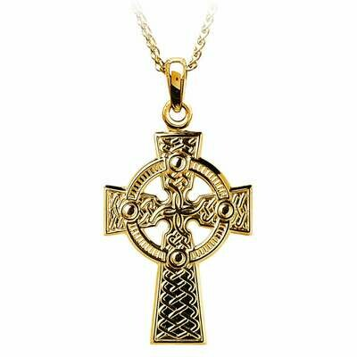 10kt Yellow Gold Traditional Celtic Knot Cross- Large, and 10kt 18
