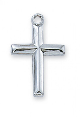 Sterling Silver Small Cross on an 18
