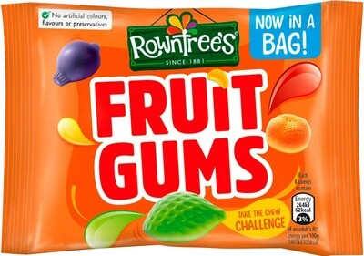 Rowntree Fruit Gums Pack