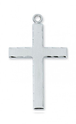 Sterling Silver Edged Lord's Prayer Cross on a 24