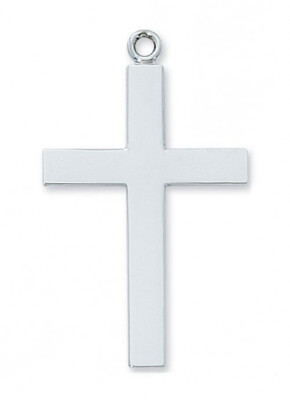 Sterling Silver Lord's Prayer Cross on a 24