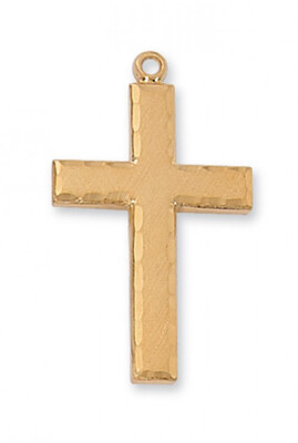 Gold Plated Edged Cross on a 24
