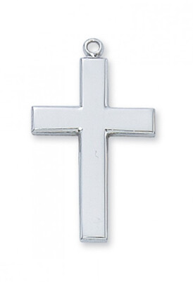 Sterling Silver Large Cross on a 24