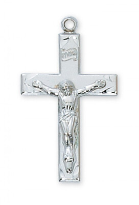 Sterling Silver Medium Crucifix on a 20