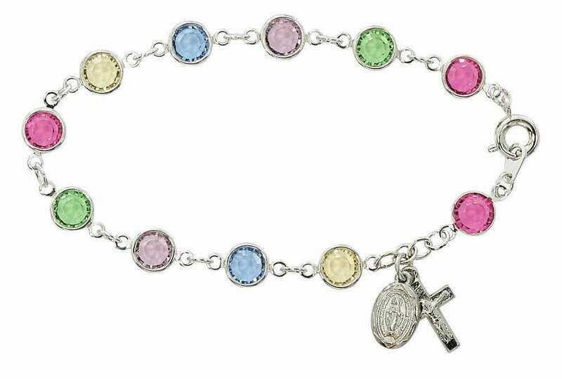 Adult Multi-Colored Austrian Rosary Bracelet