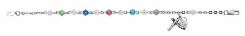 Adult Multi-Colored Rosary Bracelet