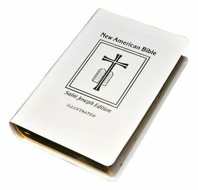 St. Joseph NABRE Deluxe Gift Edition- Medium Size- White- Leather