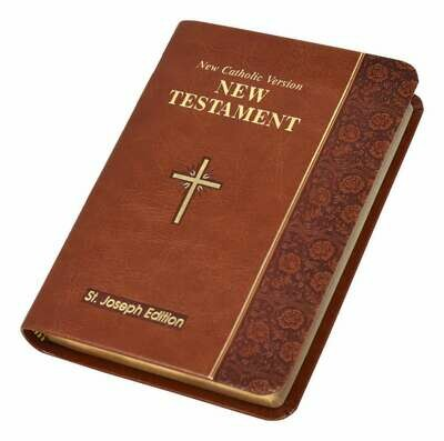 St. Joseph NCV New Testament (Vest Pocket Edition)- Brown Imitation Leather Cover