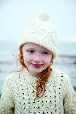 Child's Aran Handknit Ski Hat