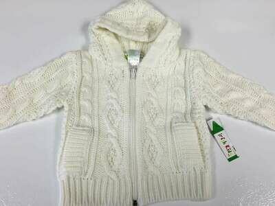 Baby Zipper Acrylic Aran Sweater