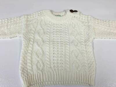 Baby Crew Acrylic Aran Sweater
