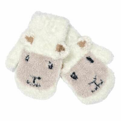 Cream Baby Sheep Mittens
