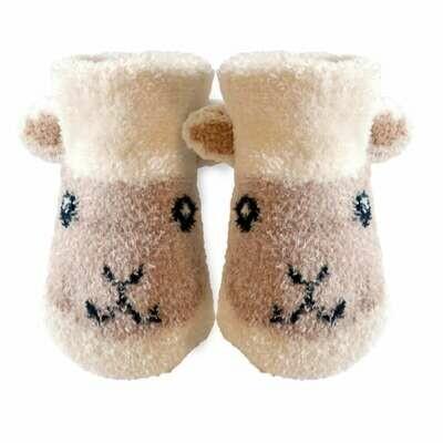 Cream Baby Sheep Booties