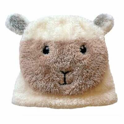 Cream Baby Sheep Hat