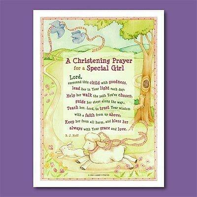 Christening Prayer Plaque- Girl
