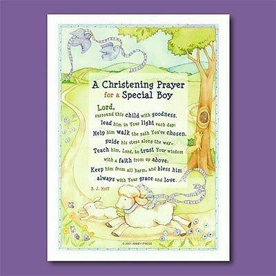 Christening Prayer Plaque- Boy