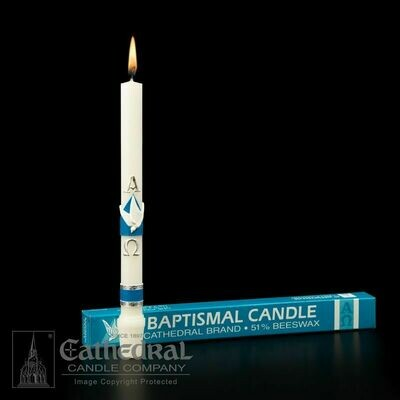 51% Beeswax Baptismal Candle