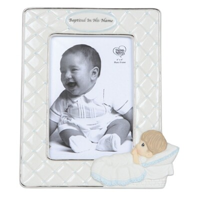 Baptized In His Name Boy Photo Frame