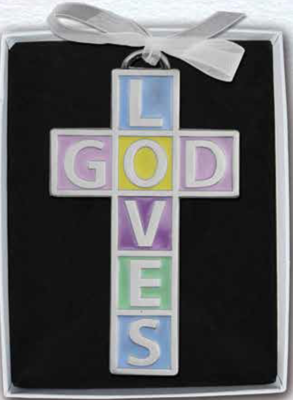 God Loves Crib Cross