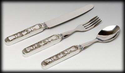 Mullingar Pewter Baby Cutlery Set - Claddagh