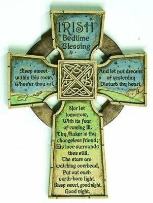 """""""Irish Bedtime Blessing"""" Cross"""