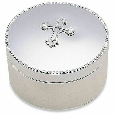 Abbey Cross Silverplate Keepsake Box