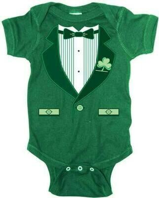 Irish Tuxedo Infant Romper Onesie