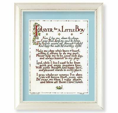 Prayer for a Little Boy Framed Picture