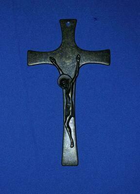 """Antique Brass Crucifix- 8.5"""""""