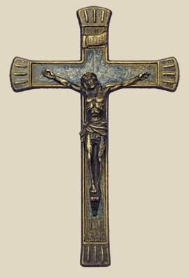"""Antique Brass Crucifix- 7.5"""""""