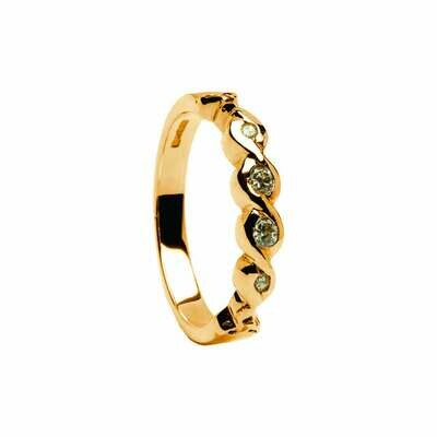 14kt Gold Diamond Eternity Engagement Ring .15cts