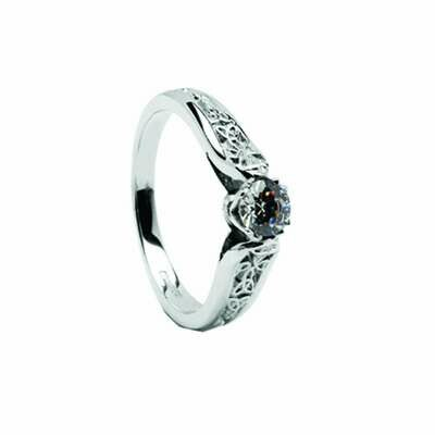 14kt Gold Diamond Trinity Engagement Ring 0.50cts