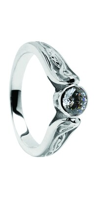 14kt Gold Diamond LeCheile Engagement Ring .025cts