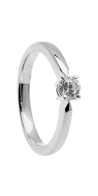 14kt Gold 4mm .25cts Diamond Engagement Ring