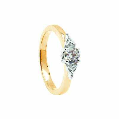 14kt Gold 5mm .50cts Diamond Engagement Ring